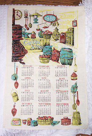 Crisp Print Of Old Fashioned General Store With Cracker Barrel And Pot  Belly Stove. Excellent Condition. Great For Your Kitchen Calendar Towel  Collection Or ...
